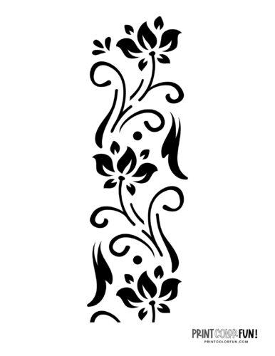 Flower stencil designs - print or craft cut (5)