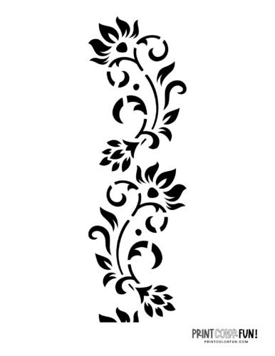Flower stencil designs - print or craft cut (6)