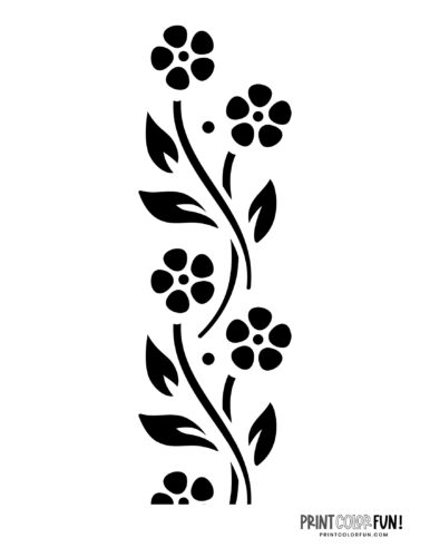 Flower stencil designs - print or craft cut (7)