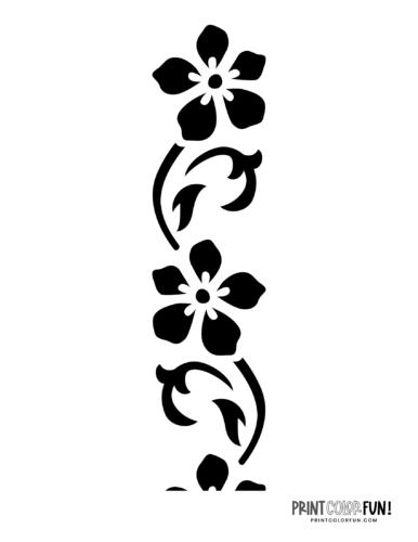 Flower stencil designs - print or craft cut (8)