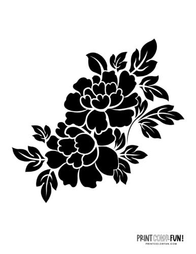 Flower stencil designs - print or craft cut (9)