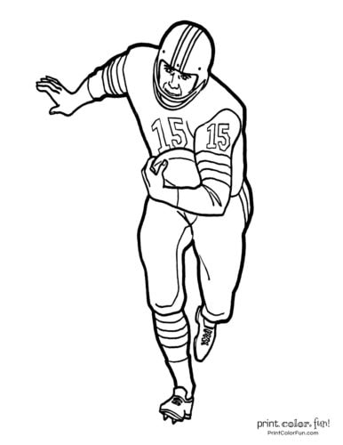 Football players - Printable coloring pages (1)
