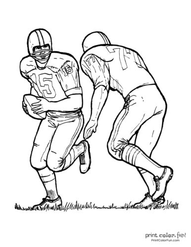 Football players - Printable coloring pages (2)