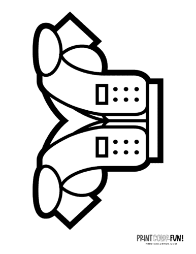 Football shoulder pads coloring page