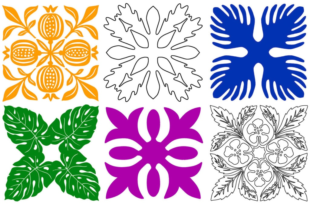 Free Hawaiian quilt patterns to applique or stencil