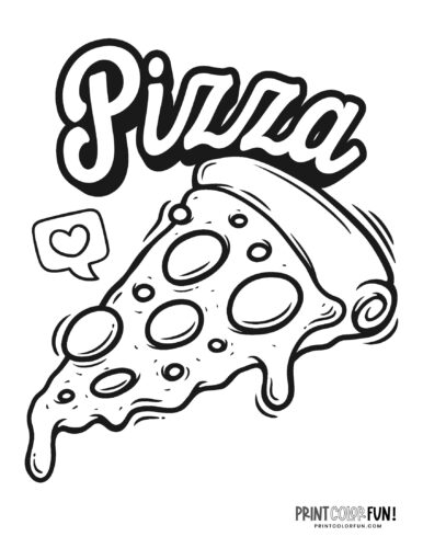 Free Pizza coloring pages
