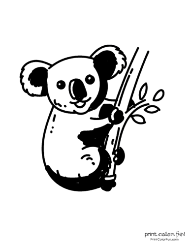 Free cute koala coloring pages (5)