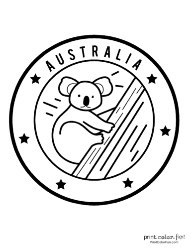 Free cute koala coloring pages (6)
