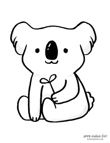 Free cute koala coloring pages (8)