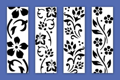 Free flower stencil designs at PrintColorFun-com