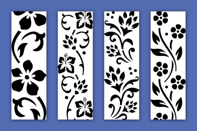 Free flower stencil designs at PrintColorFun-com