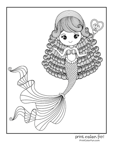Free mermaid coloring pages12