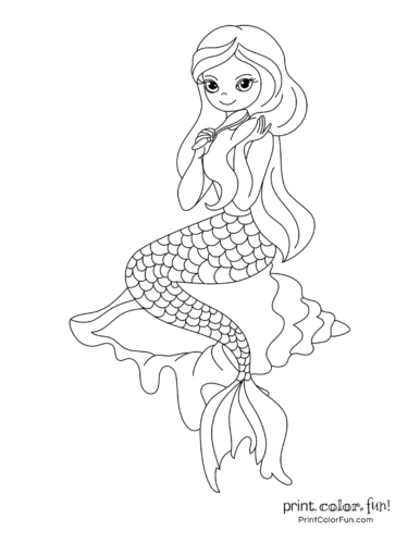 Free Baby Mermaid Coloring Pages, Download Free Clip Art, Free ... | 500x386