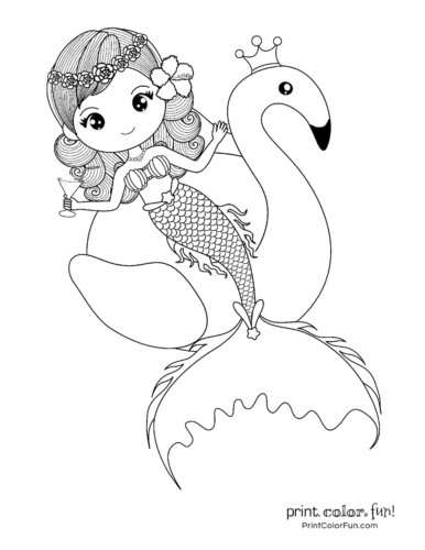 30 Mermaid Coloring Pages Free Fantasy Printables Print Color Fun