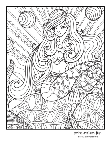 Free mermaid coloring pages34