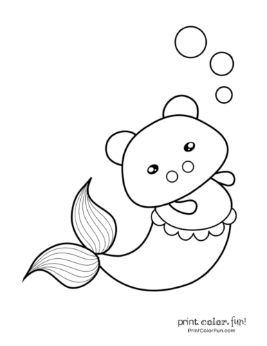 Free mermaid coloring pages8