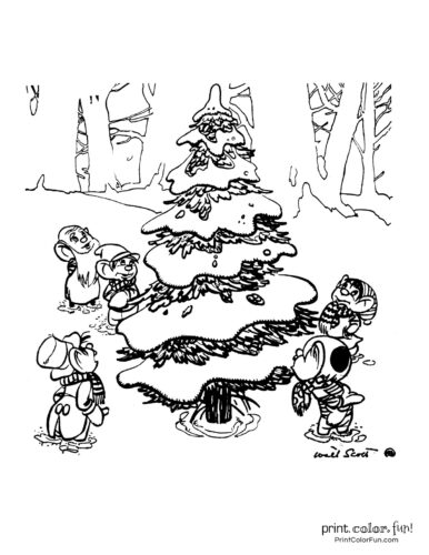 Free printable Christmas tree coloring pages (1)