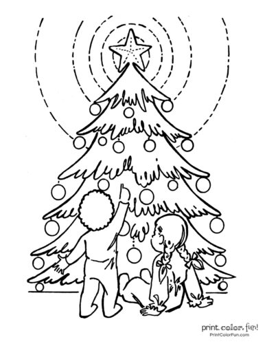 Free printable Christmas tree coloring pages (2)