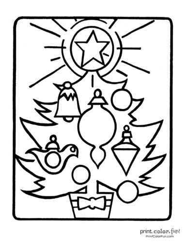 Free printable Christmas tree coloring pages (3)