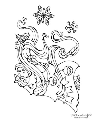 Free printable Christmas tree coloring pages (4)