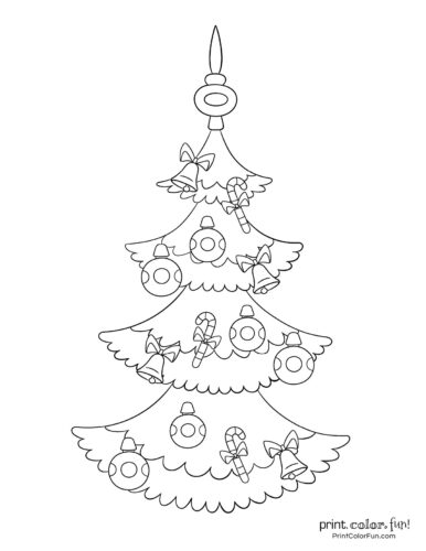 Free printable Christmas tree coloring pages (6)