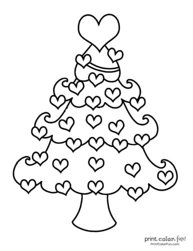 Free printable Christmas tree coloring pages (8)