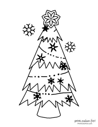 Free printable Christmas tree coloring pages (9)