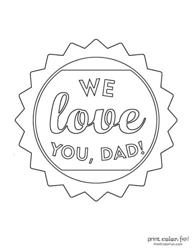 Free printable Father's Day coloring pages (1)