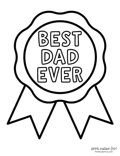 World's Best Dad Coloring Pages print | Fathers day coloring page ... | 500x386