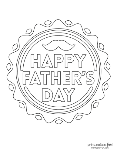 photograph relating to Father's Day Printable called 16 totally free printable Fathers Working day coloring internet pages - Print. Colour