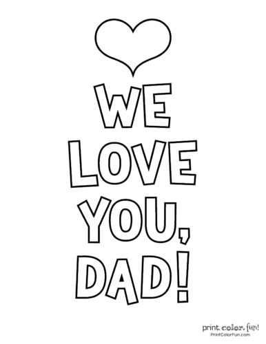 Free printable Father's Day coloring pages (9)