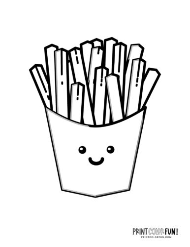 French fries coloring pages (1)