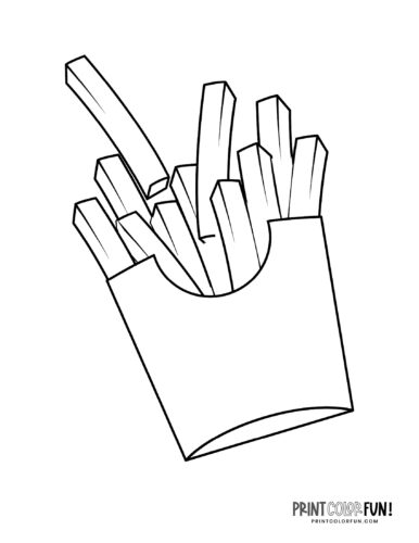 French fries coloring pages (2)