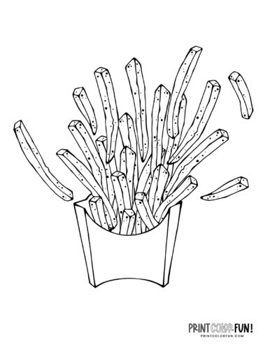 French fries coloring pages (3)