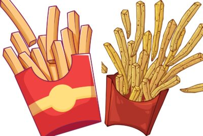 French fries coloring pages