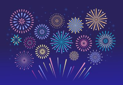 Fun fireworks coloring pages from PrintColorFun_com