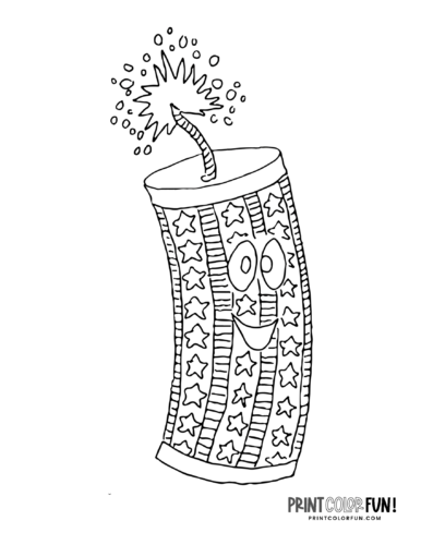 Fun printable firecracker coloring pages (2)