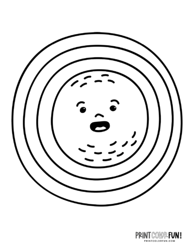 Fun sun coloring pages - Silly faces (5)
