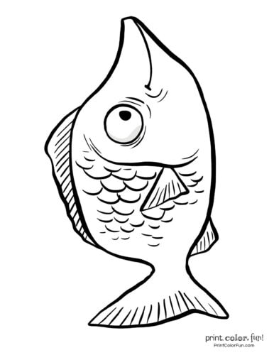Funny fish coloring page from PrintColorFun com (10)