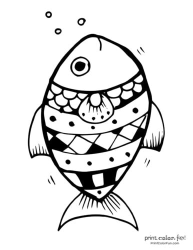 Funny fish coloring page from PrintColorFun com (11)