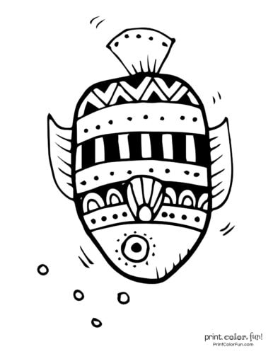 Funny fish coloring page from PrintColorFun com (14)