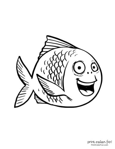 Funny fish coloring page from PrintColorFun com (17)