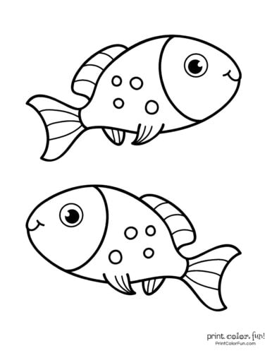 Funny fish coloring page from PrintColorFun com (19)