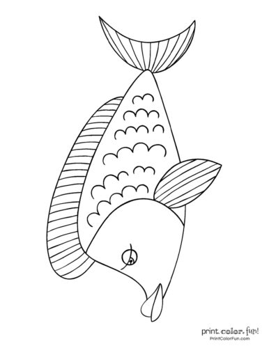 Funny fish coloring page from PrintColorFun com (21)