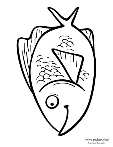 Funny fish coloring page from PrintColorFun com (24)