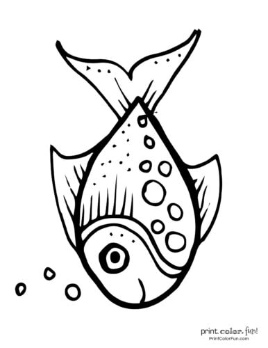Funny fish coloring page from PrintColorFun com (25)