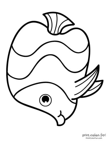 Funny fish coloring page from PrintColorFun com (27)