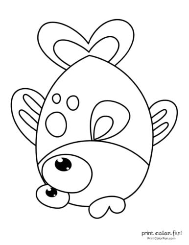 Funny fish coloring page from PrintColorFun com (28)
