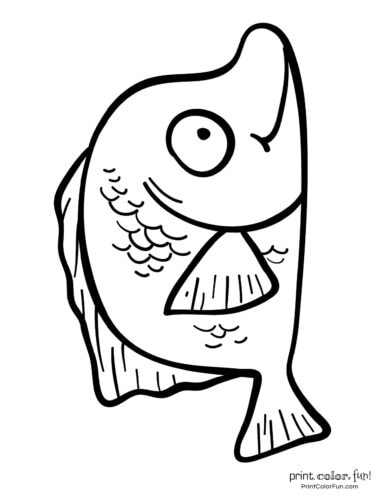 Funny fish coloring page from PrintColorFun com (29)
