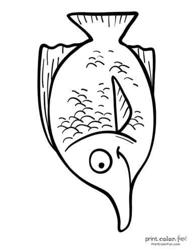 Funny fish coloring page from PrintColorFun com (30)